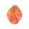 Glass Bead Fancy 15x16mm Strung Orange/Yellow/Pink